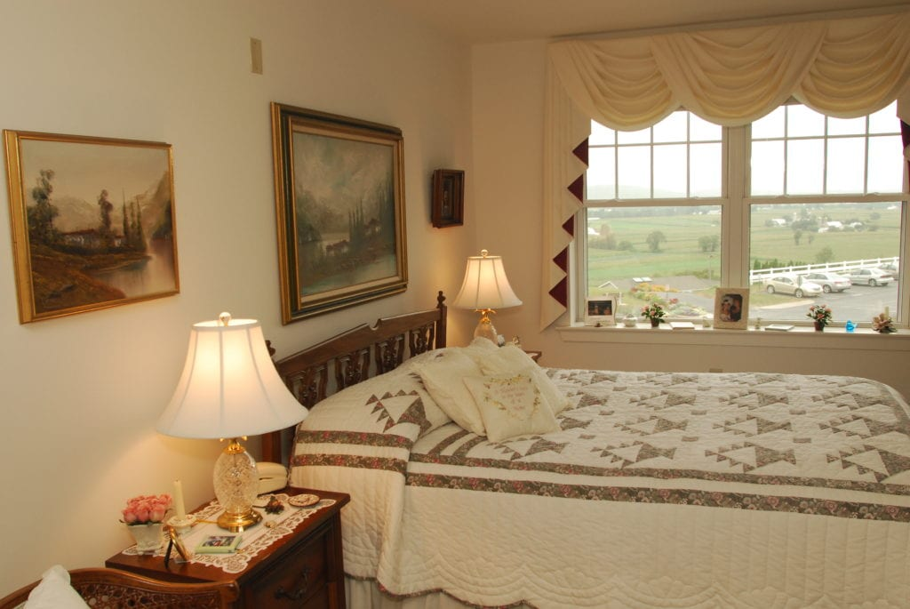 Fairmount Homes Retirement bedroom example