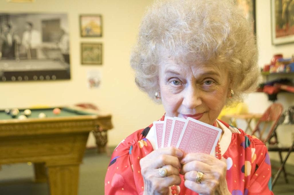 Playing cards at St. Anne's Retirement Village