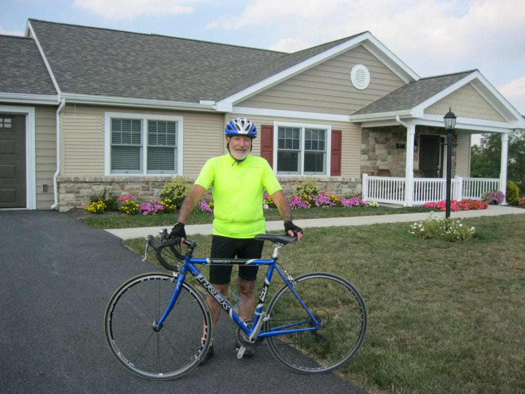 Fairmount Homes Retirement biking individiaul