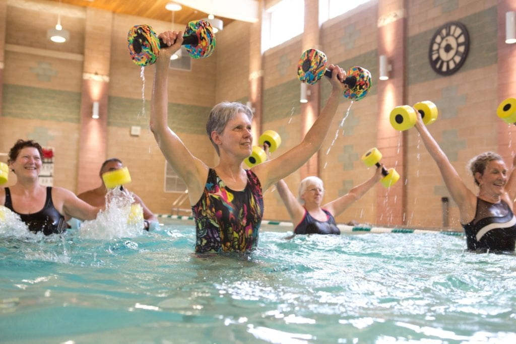 Water Excercises at Pleasant View retirement home