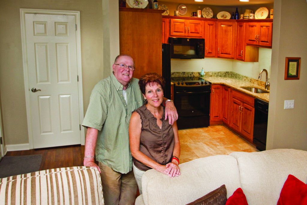 Couple in their home at St. Johns Herr Estate