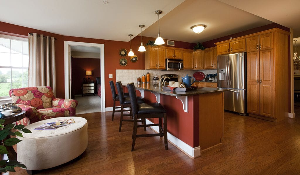 Kitchen at Willow Valley retirement home