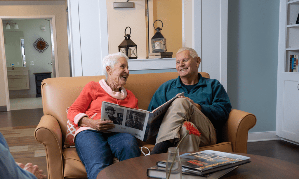 Senior couple reading at United Zion
