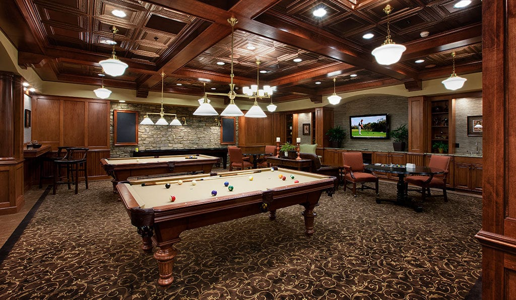 Poolroom at Willow Valley retirement village