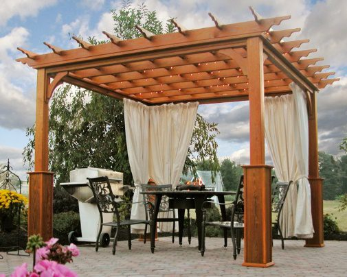 pergola dining outside