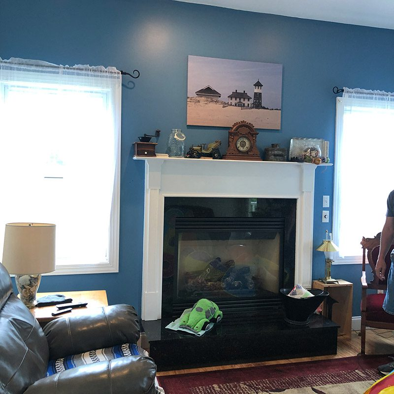 self contained gas fireplace