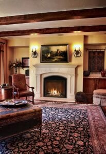 fireplace in classic room