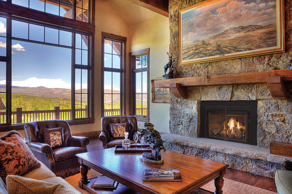 Rustic Fireplace design