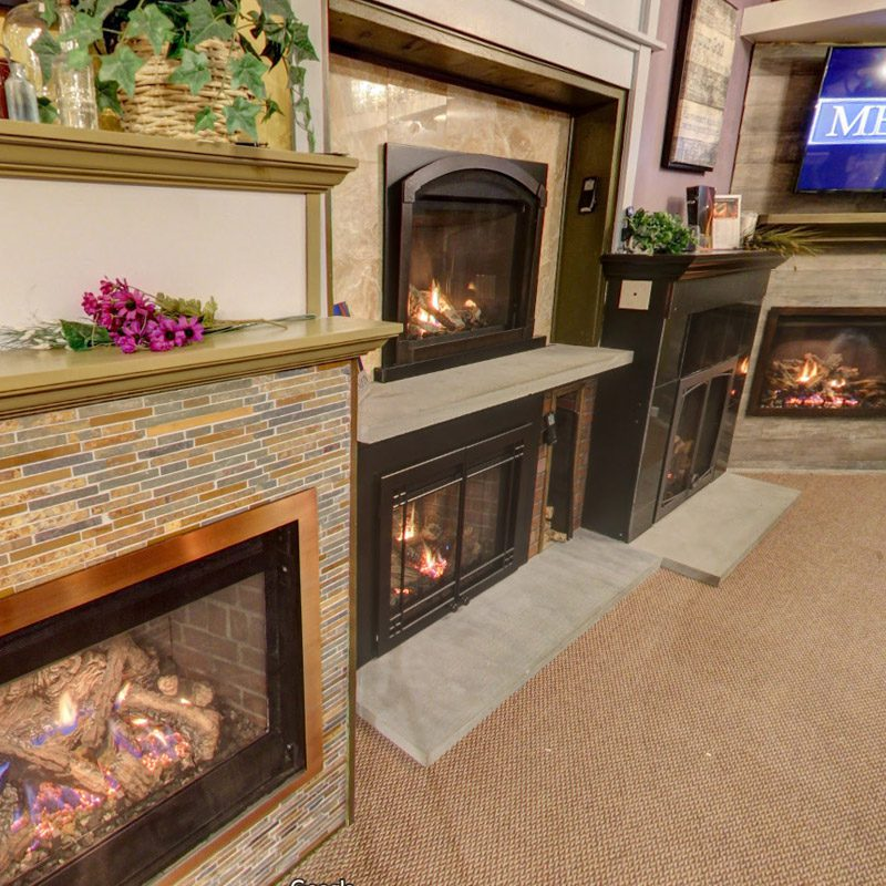 fireplaces on display