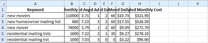 excel resize columns