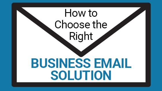 How to choose the right business email