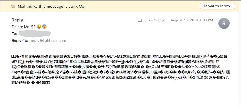 junk mail sample
