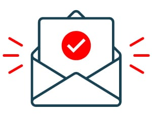Envelope icon - form received