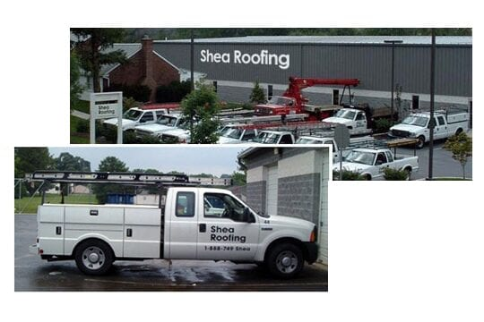 Shea Roofing Building, Truck, and Tools