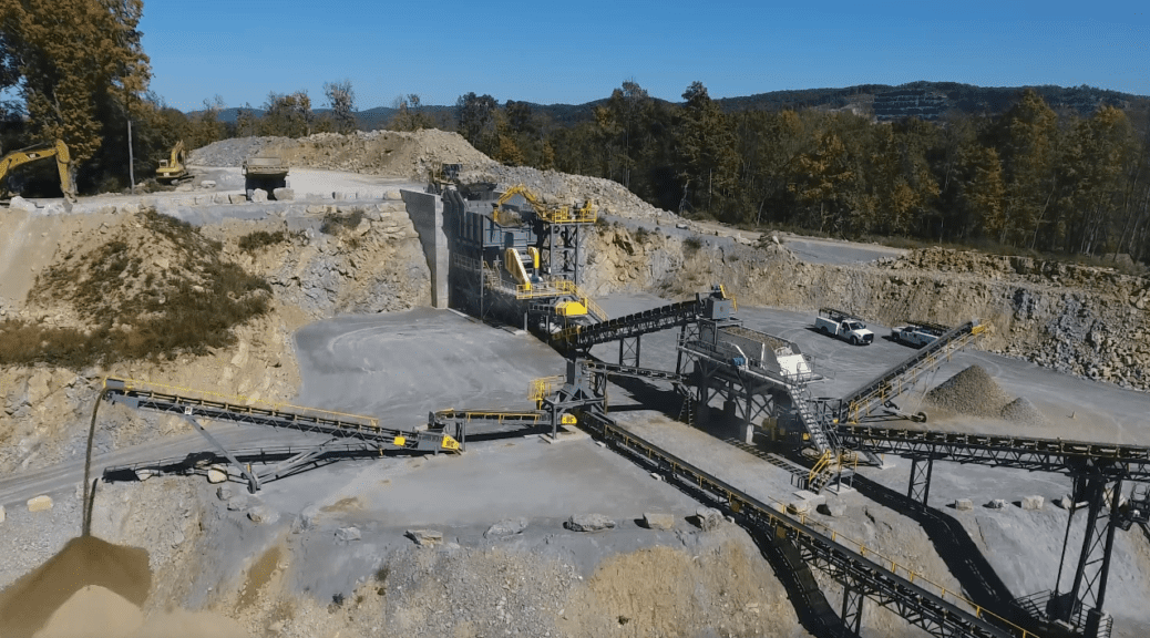 photo of quarry and large equipment