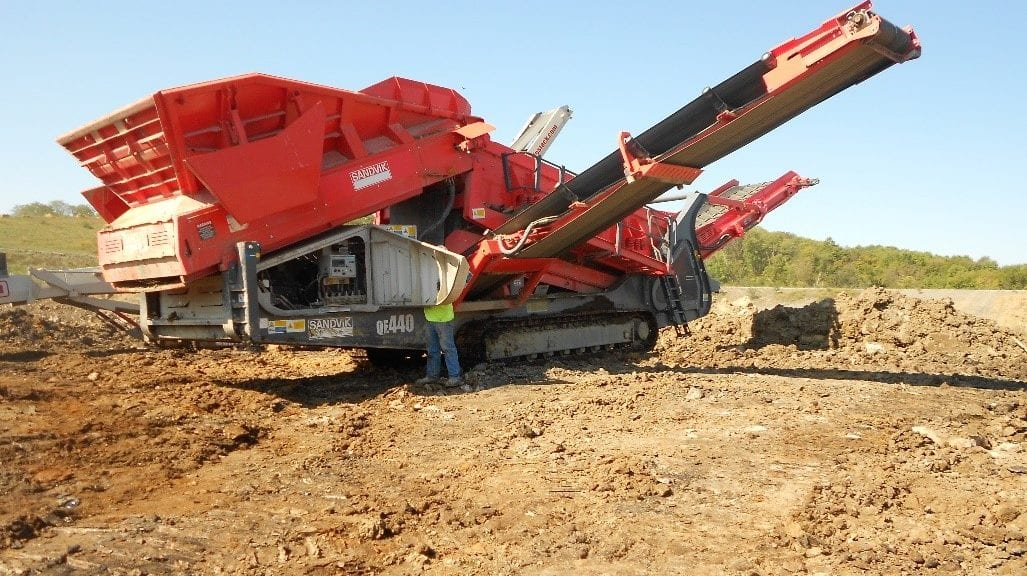 large red equipment due for maintenance