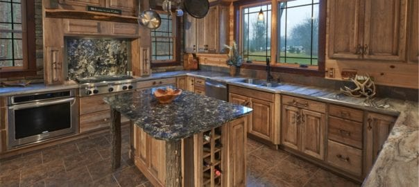 Outdoor influenced cabinets and kitchen