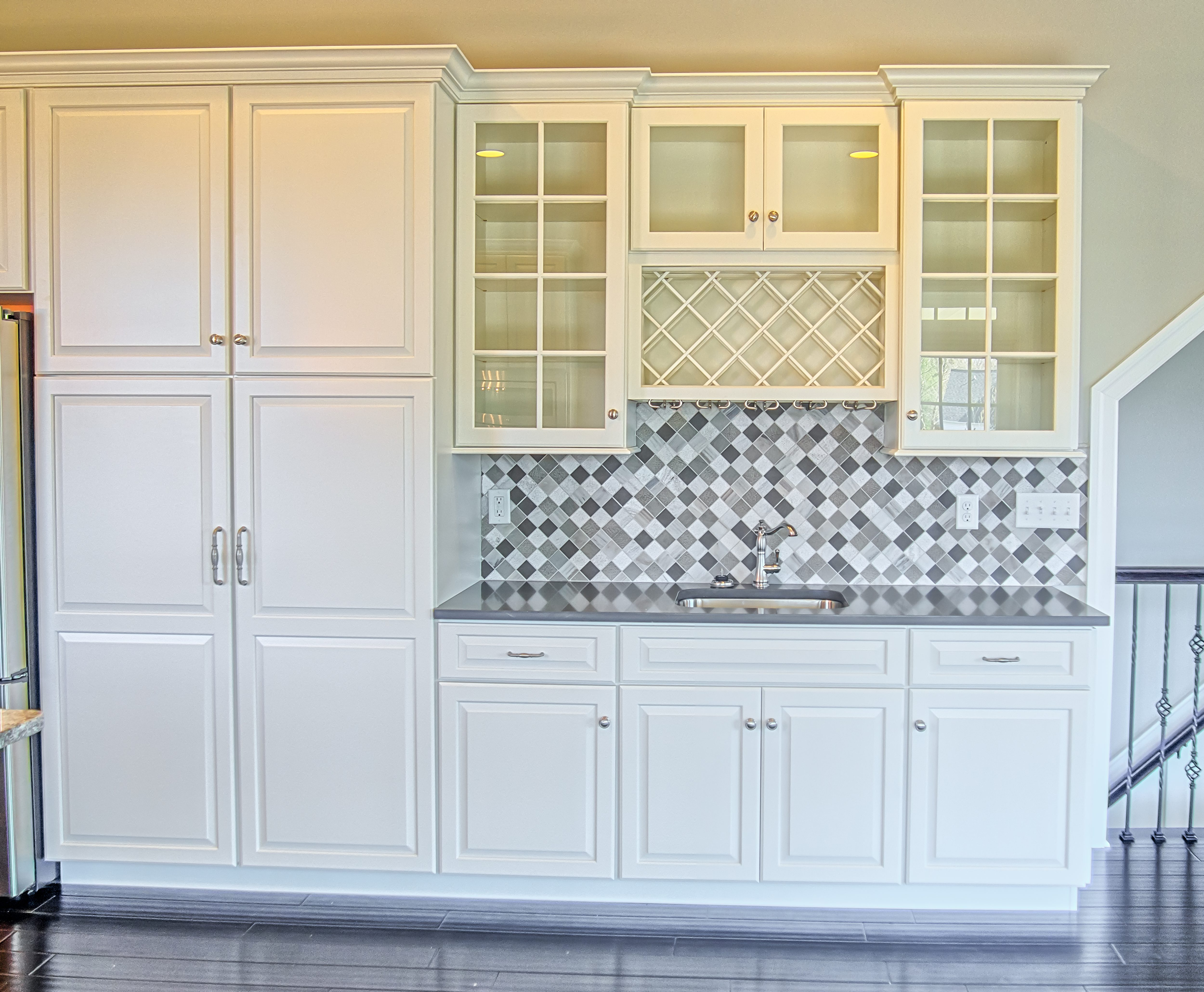 floor-to-ceiling cabinetry