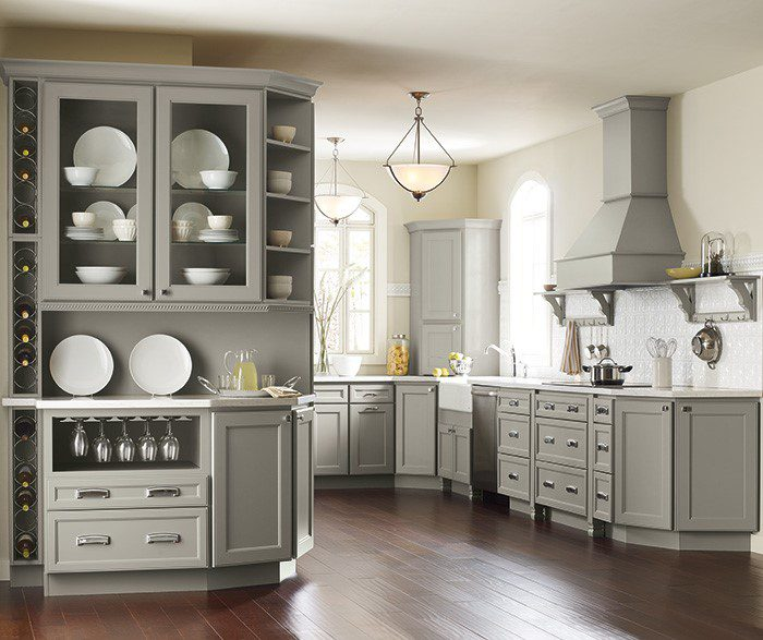 kitchen with open shelving