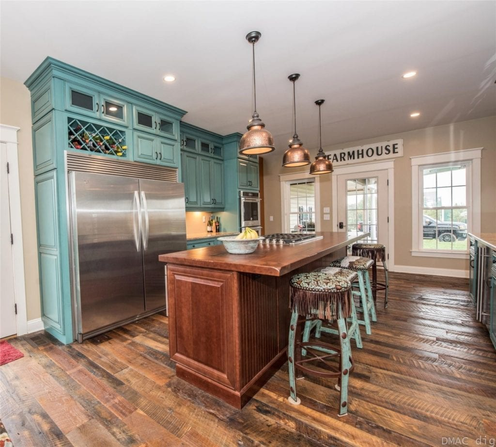 kitchen with stool seating