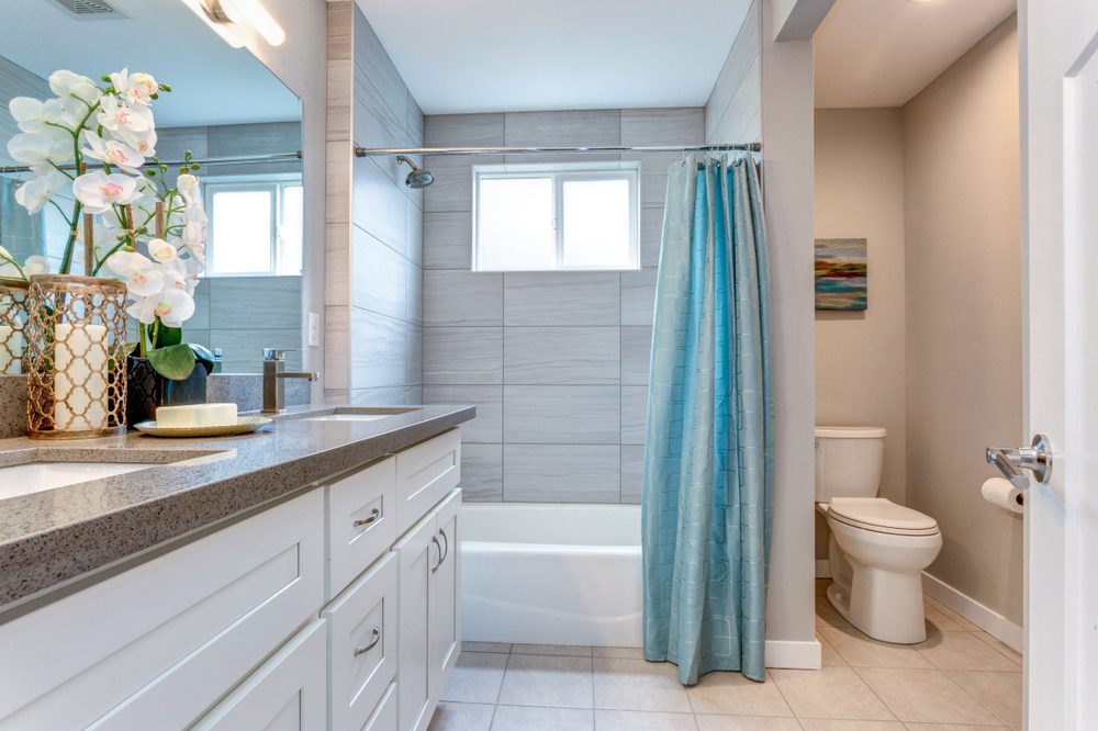 clean and open bathroom