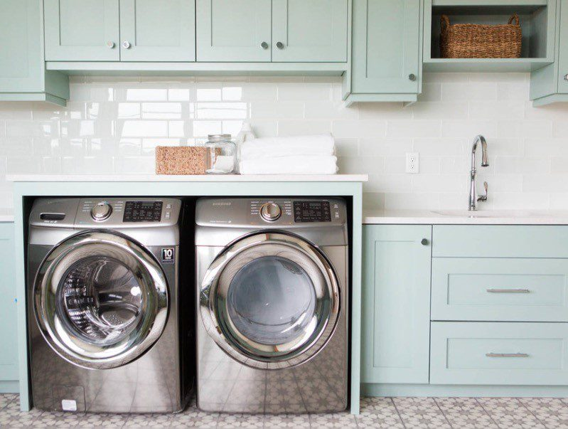 Built-In Counter Space in laundry room