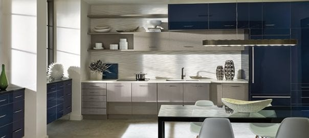 Modern kitchen design trends with a pop of color