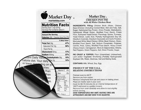 Market Day nutrition facts