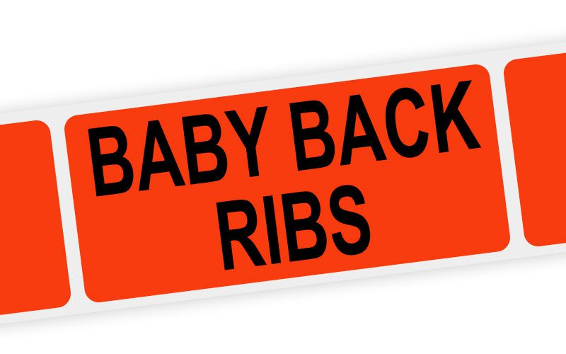 baby back ribs label