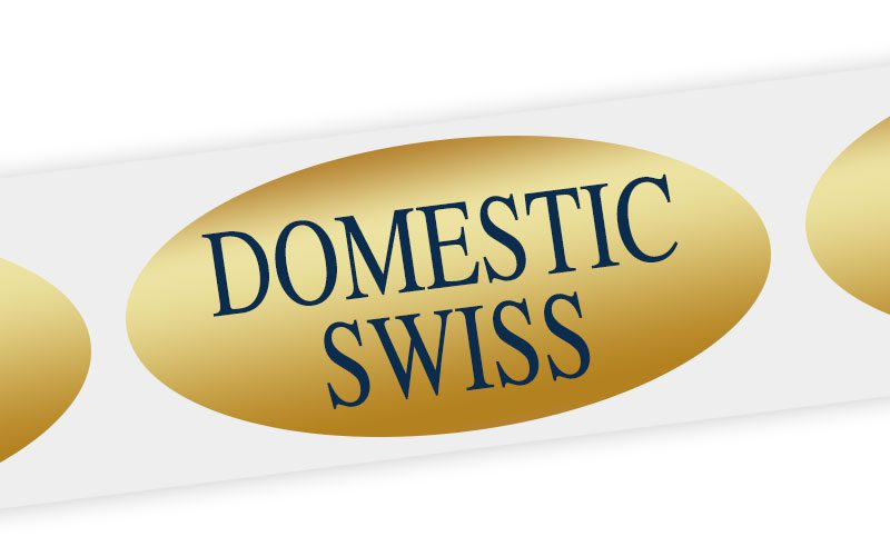 domestic swiss cheese label