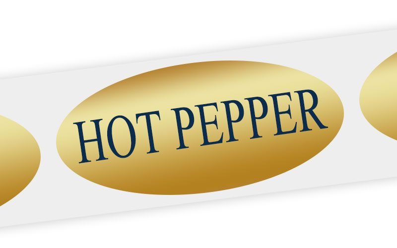 hot pepper cheese label