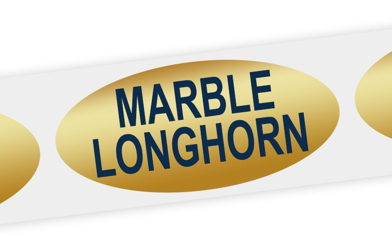 marble longhorn cheese label