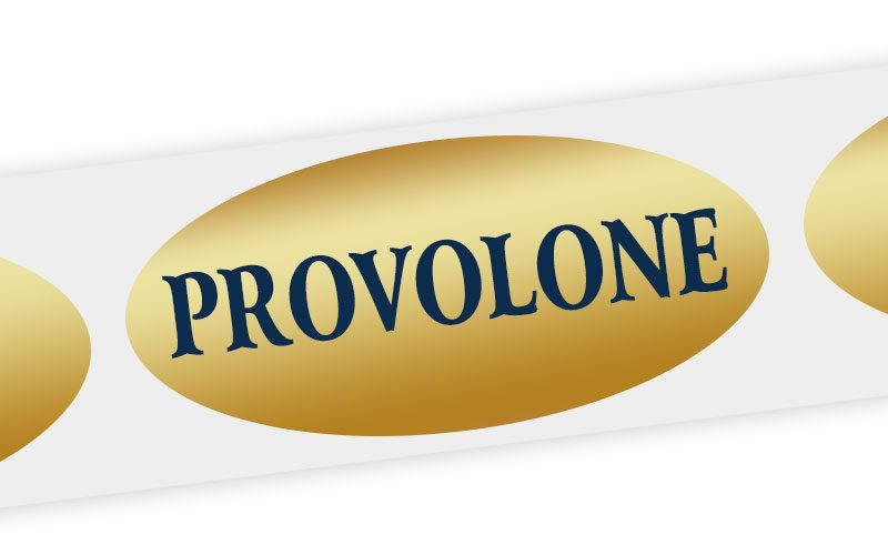 provolone cheese label