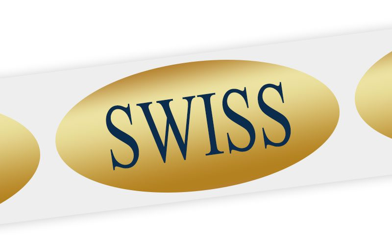 swiss cheese label