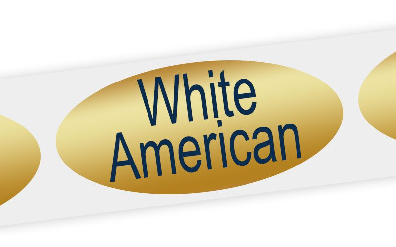 white american cheese label