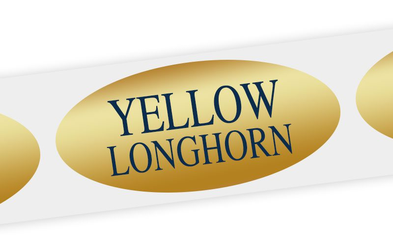 yellow longhorn cheese label