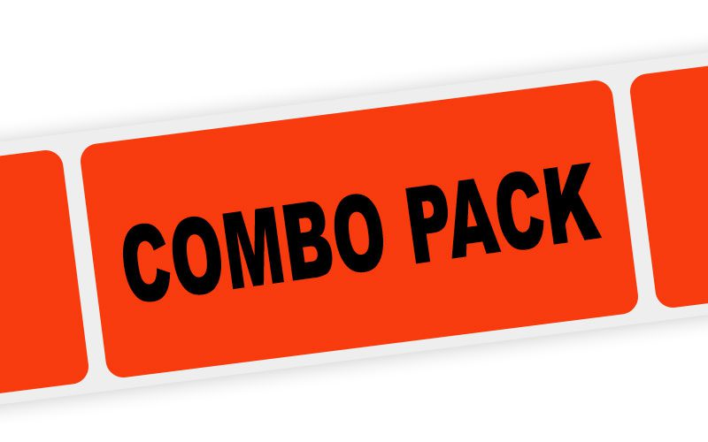 combo pack label