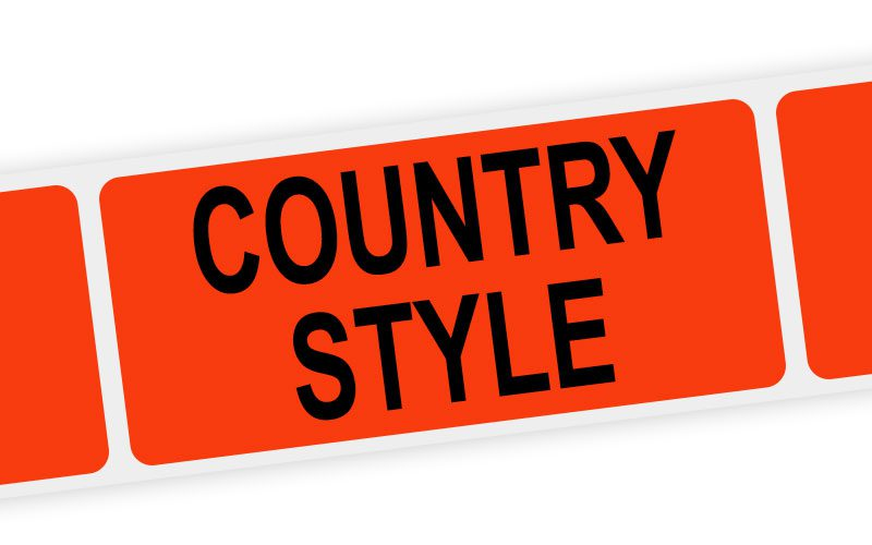 country style label