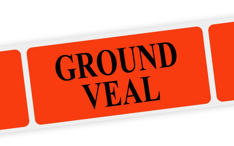 ground veal label