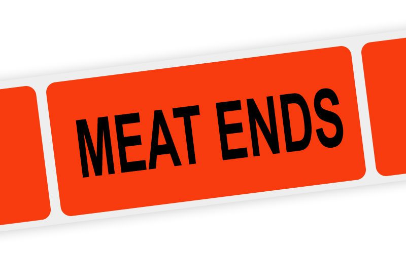 meat ends label