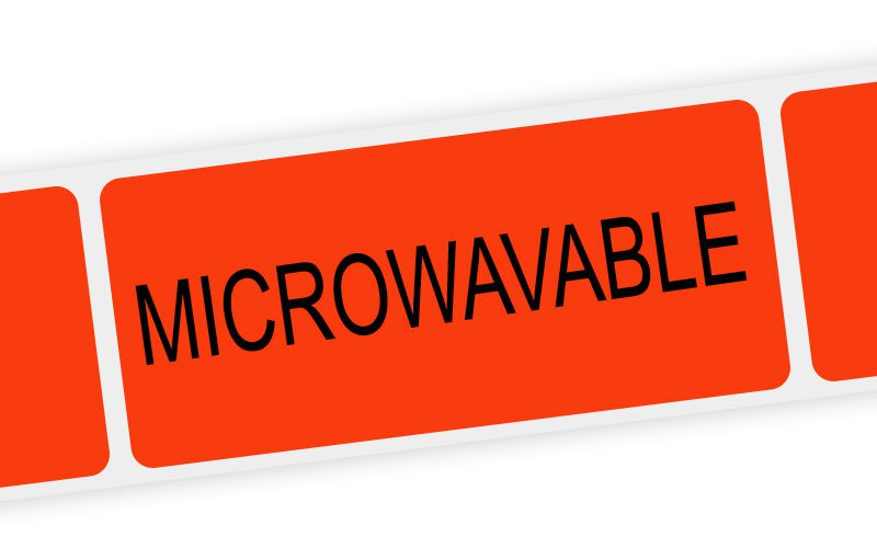 microwavable label