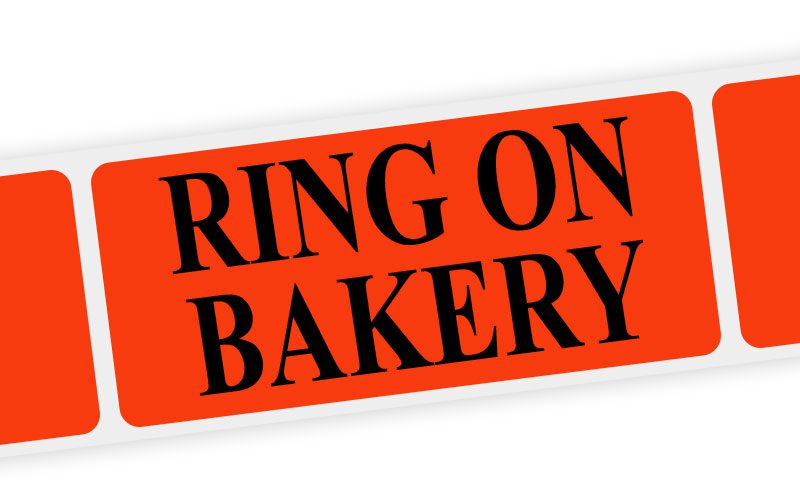 ring on bakery label