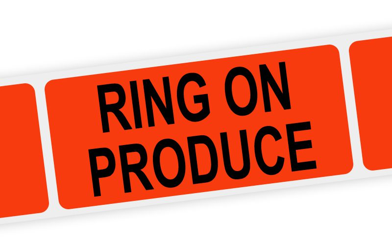 ring on produce label