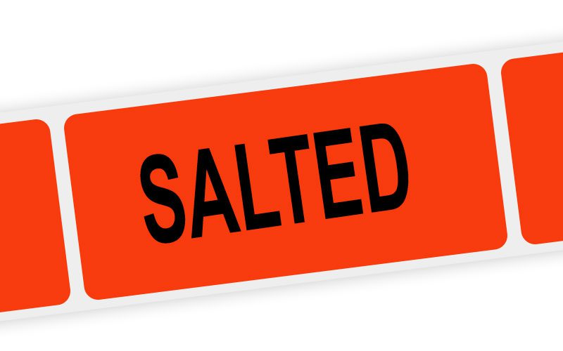 salted label