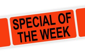 special of the week label